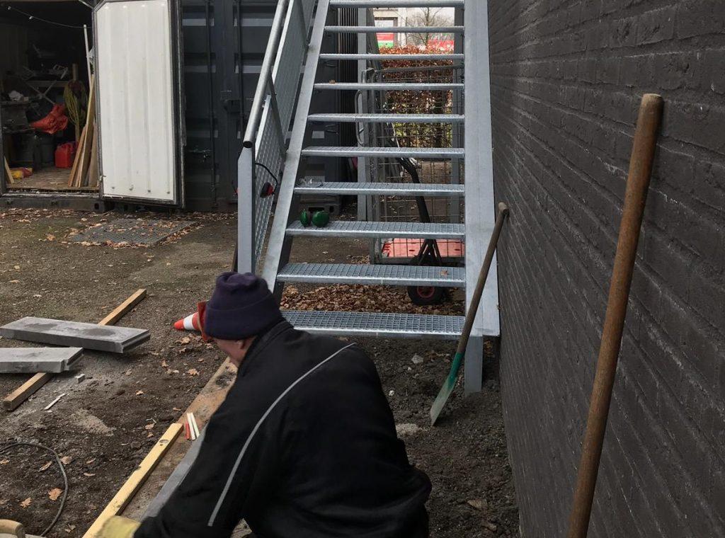 Nieuwe trap   traplift in aanbouw